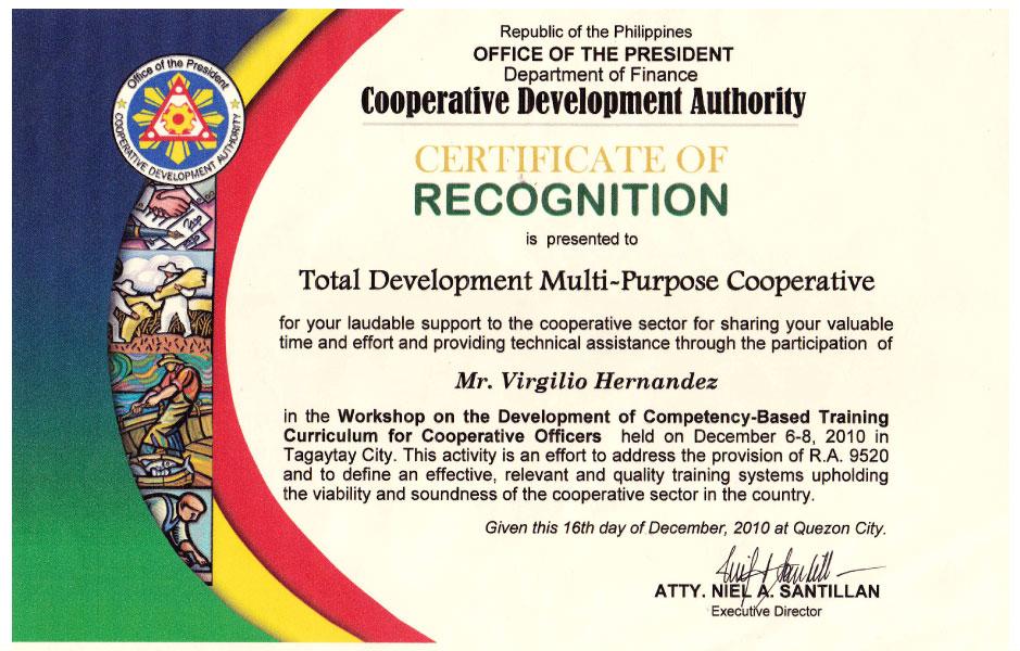 Recognitions Totaldev